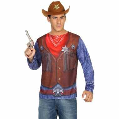 Compleet sheriff verkleedkleding voor heren