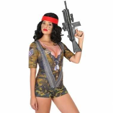 Compleet soldaat verkleedkleding voor dames