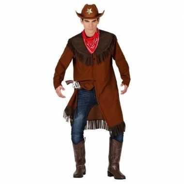 Cowboy/western jas verkleed verkleedkleding voor heren