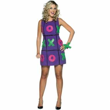 Dames verkleedkleding jurk paars