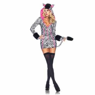 Dames zebra verkleedkleding