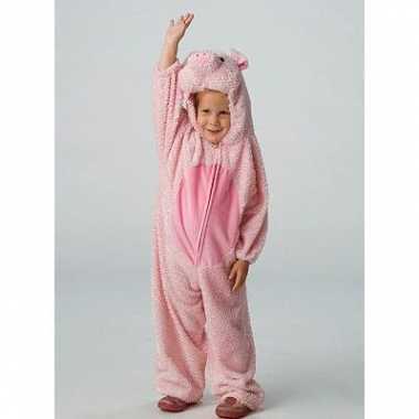 Dieren verkleedkleding varken voor kids