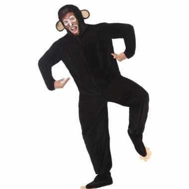 Dierenpak apen/chimpansee verkleedverkleedkleding voor volwassenen