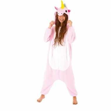 Dierenpak eenhoorn pinky onesie verkleed verkleedkleding voor dames