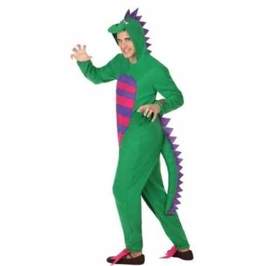 Dierenpak groene draak verkleedverkleedkleding voor heren