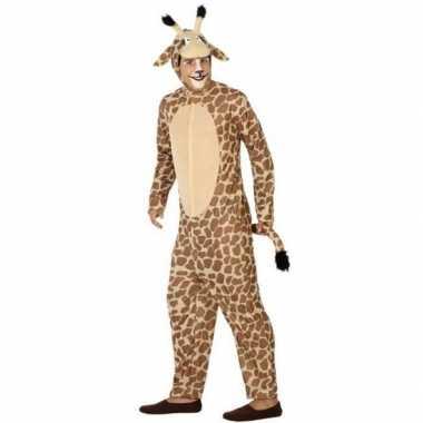Dierenpak verkleed verkleedkleding giraffe voor volwassenen