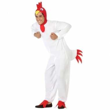 Dierenpak verkleed verkleedkleding kip/haan voor volwassenen