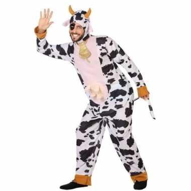 Dierenpak verkleed verkleedkleding koe voor volwassenen