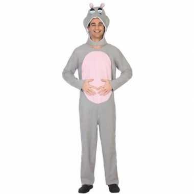 Dierenpak verkleed verkleedkleding nijlpaard voor volwassenen