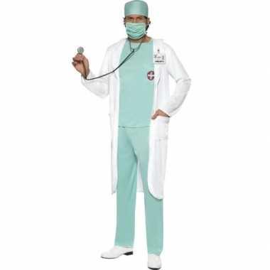 Dokter verkleedkleding met jas voor heren