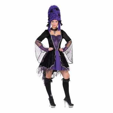 Dracula verkleedkleding jurk paars