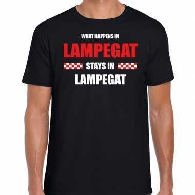 Eindhoven/lampegat carnaval verkleedkleding / t shirt zwart heren