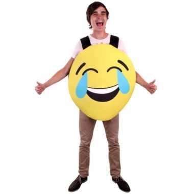 Emoticon verkleedkleding lachend voor volwassenen
