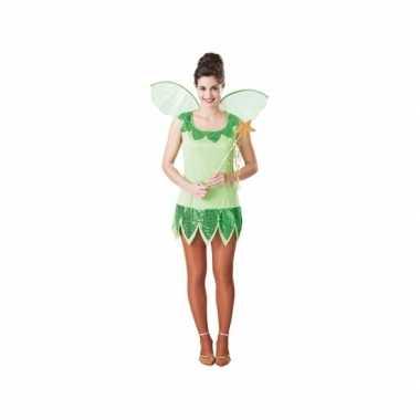 Fee verkleedkleding groen voor dames