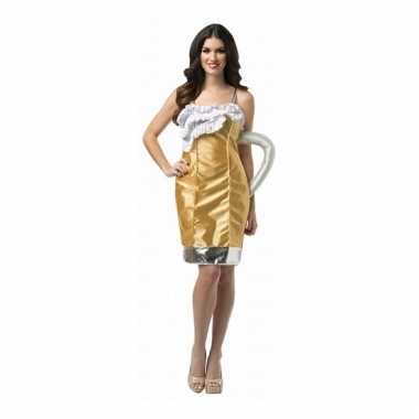 Feest bierglas verkleedverkleedkleding voor dames