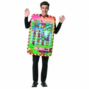 Feest candy crush verkleedverkleedkleding voor volwassenen