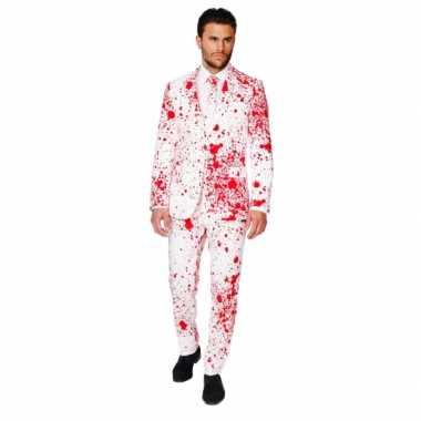Feest verkleedkleding bloedspatten print