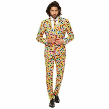 Feest verkleedkleding confetti voor heren