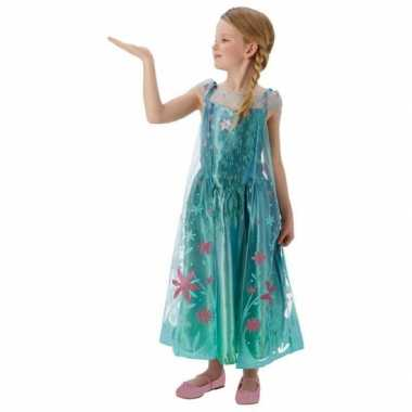 Feest verkleedkleding elsa frozen voor meisjes