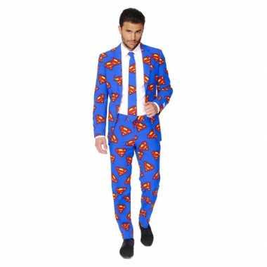 Feest verkleedkleding superman print 10059592