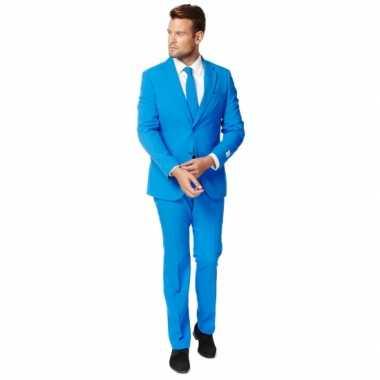 Fel blauw zaken verkleedkleding voor heren