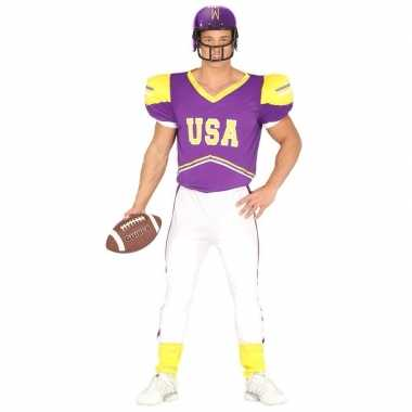 Football verkleedkleding paars/geel voor heren