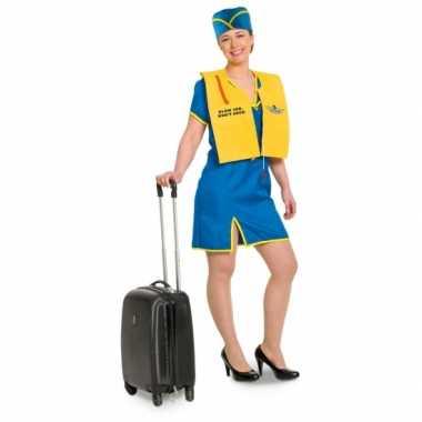 Funny stewardess verkleedkleding voor dames
