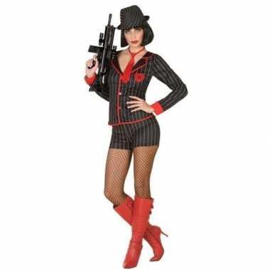 Gangster verkleed verkleedkleding voor dames
