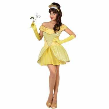 Gele prinses verkleedkledings voor dames