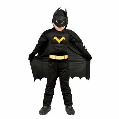 Gespierde vleermuisheld zwart verkleed verkleedkleding voor jongens
