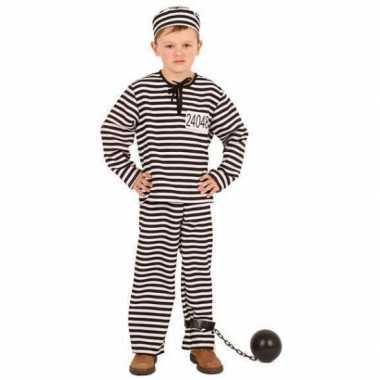 Gestreept gevangene verkleedkleding kinderen