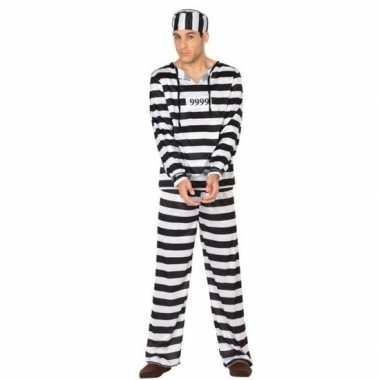 Gevangene/boef clyde verkleed verkleedkleding voor heren