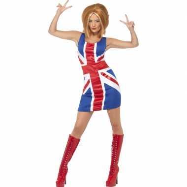 Ginger spice girl verkleedkleding met pruik voor dames
