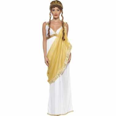 Goud met wit helena van troje verkleedkleding