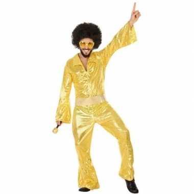 Gouden disco verkleed pak/verkleedkleding voor heren
