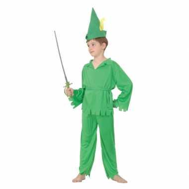Groen elfjes verkleedkleding voor jongens
