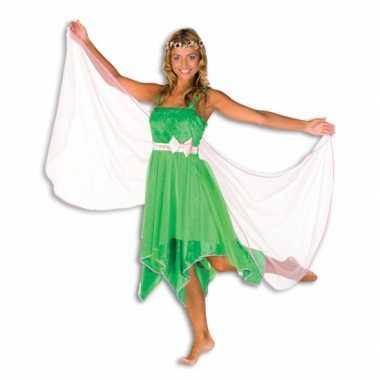 Groene elfen verkleedkleding dames
