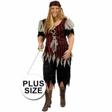 Grote maat dames piraten verkleedkleding