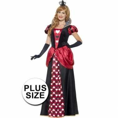 Grote maat feest hartenkoningin verkleedverkleedkleding voor dames