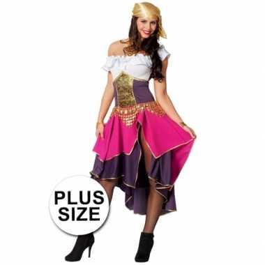 Grote maat feest zigeunerin verkleedverkleedkleding voor dames