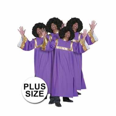 Grote maat gospel verkleedkleding