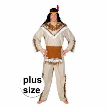 Grote maat indiaan adahy verkleed verkleedkleding voor heren