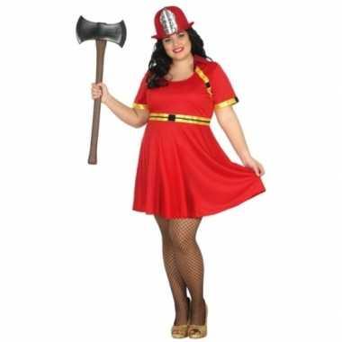 Grote maten brandweer verkleedkleding voor dames