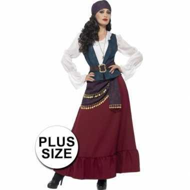 Grote maten feest piraat verkleedverkleedkleding voor dames