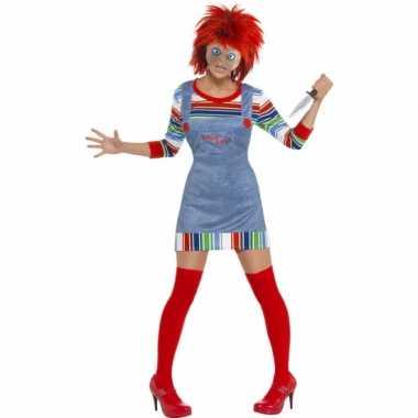 Halloween dames verkleedkleding chucky