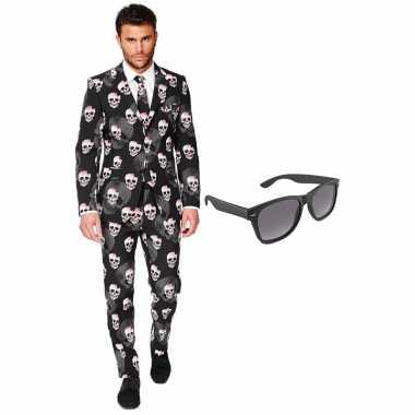 Halloween heren verkleedkleding maat 54 (xxl) met gratis zonnebril