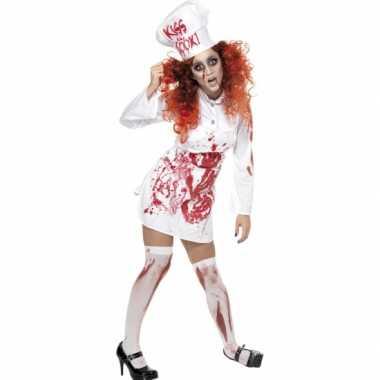 Halloween koks verkleedkleding met bloed