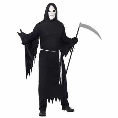 Halloween verkleedkleding magere hein met masker voor volwassenen