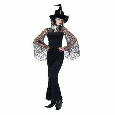Halloween verkleedkleding zwarte heks