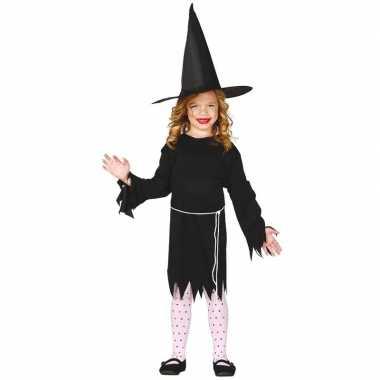 Halloween zwart heksen verkleedkleding budget voor meisjes